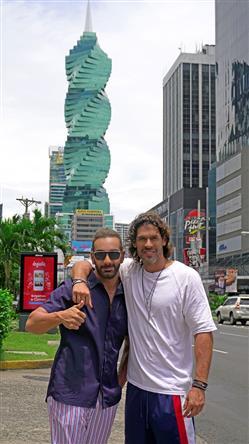 Celebrity travel: Ο Νίκος Κοκλώνης στον Παναμά με τον Γιάννη Σπαλιάρα